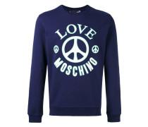logo print sweatshirt - men - Baumwolle - S