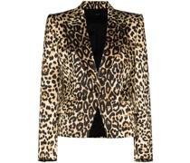 Blazer mit Leoparden-Print