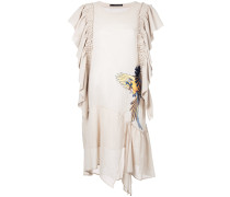 Kleid mit Vogelstickerei