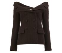 Schulterfreie Tweed-Jacke