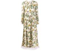 Kleid mit Federsaum