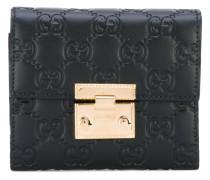 GG Signature padlock wallet - women