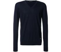 V-neck slim-fit jumper