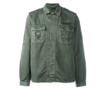 Jeanshemd im Military-Look