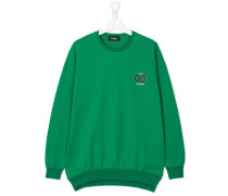 chest logo print sweatshirt