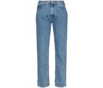 Verzierte Jeans mit geradem Bein