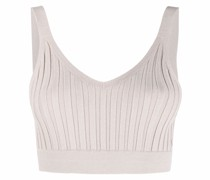 Geripptes Fay Cropped-Stricktop