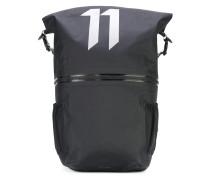 large logo print backpack - unisex - Nylon