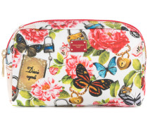 secret garden print wash bag