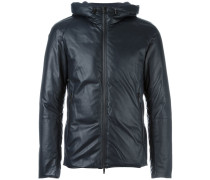 two-way zip hooded jacket