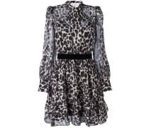 Hemdblusenkleid mit Leoparden-Print - women