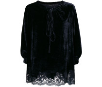 bell sleeve lace insert top