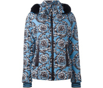 hooded baroque puffer jacket
