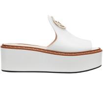 platform F logo sandals