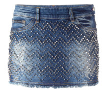 'Actinidia' denim mini skirt