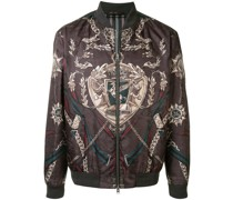 graphic print bomber jacket