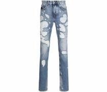 Jeans mit Slogan-Print