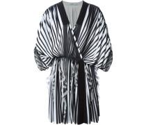 Plissiertes Kimono-Seidenkleid