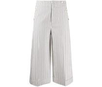 Cropped-Hose mit Streifen
