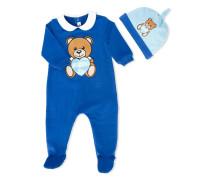 bear print babygrow set