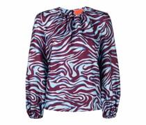 Bluse mit Zebra-Print