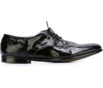 Derby-Schuhe mit geometrischem Muster