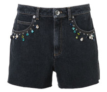 Verzierte Jeans-Shorts