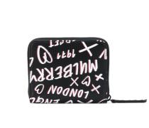 Kleines Portemonnaie mit Graffiti-Print