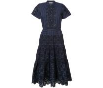 Kleid mit Lochstrick-Muster