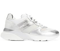 'Interactive' Sneakers im Metallic-Look