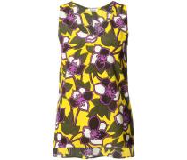 - Florales Top mit ärmellosem Design - women