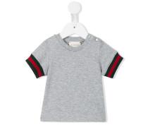 T-Shirt mit Webstreifen
