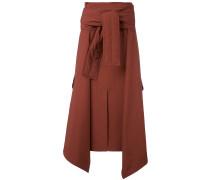 tied sweater layered skirt