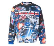 Transformer intarsia sweatshirt