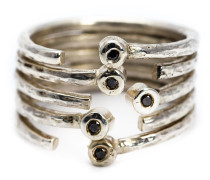 Diamantring mit mehreren Bändern