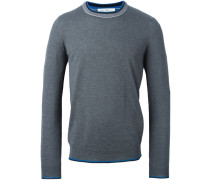 Pullover mit Kontrastausschnitt