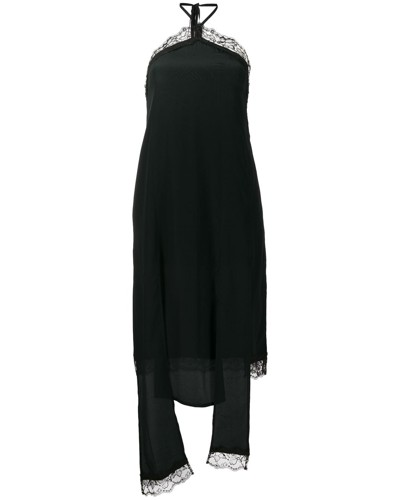 Neckholder-Kleid mit Spitze