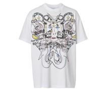 T-Shirt mit Montage-Print
