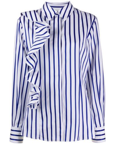Gestreiftes Hemd mit Rüschen
