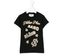 - Verziertes T-Shirt - kids - Baumwolle/Elastan