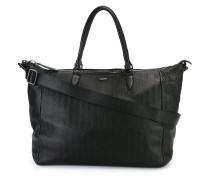 Texturierte Handtasche mit Reißverschluss
