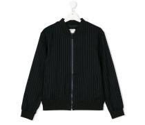 Teen pinstripe bomber jacket