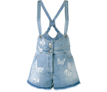 butterfly appliqué dungarees