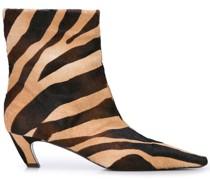 Stiefeletten mit Zebra-Print