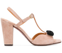 T-bar bow front sandals