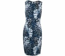 Schmales Kleid mit Leoparden-Print