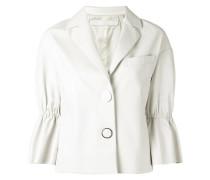 ruffled sleeve jacket