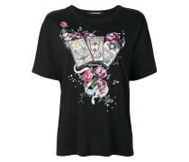 T-Shirt mit Karten-Print