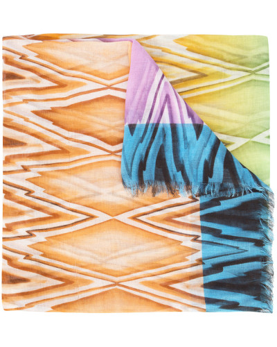 zig-zag patterned scarf
