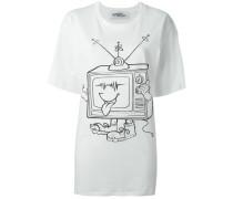 Oversized-T-Shirt mit Print - women - Baumwolle
